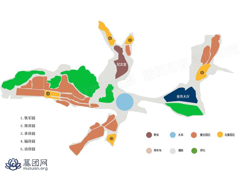 九公山长城纪念林平面图